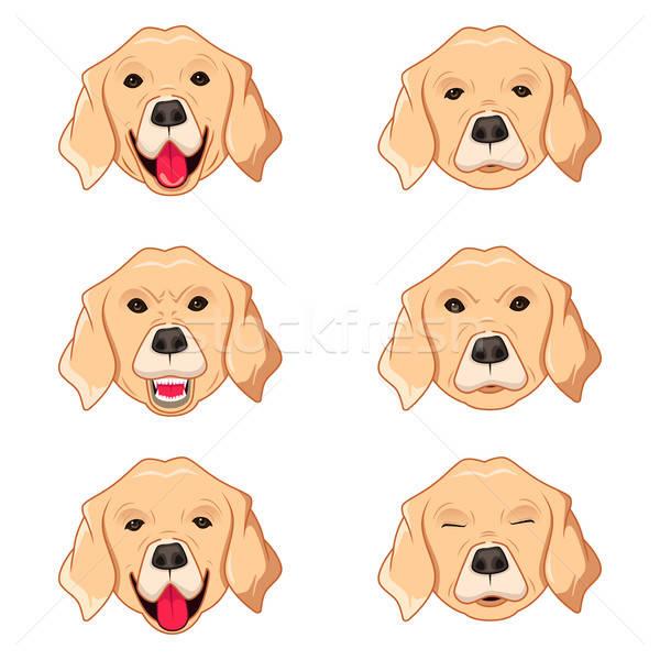 Labrador retriever feliz triste funny dibujo Foto stock © artisticco