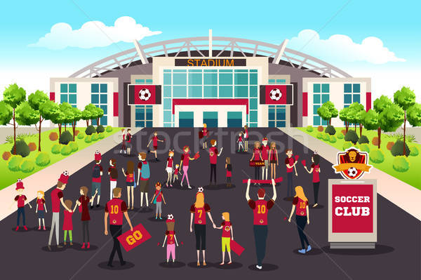 Soccer Fans Going to Stadium Illustration Stock photo © artisticco