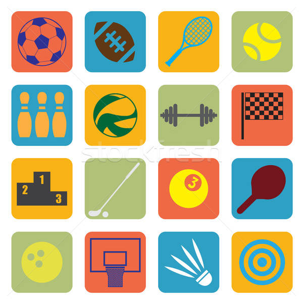 Sport icons Stock photo © artisticco