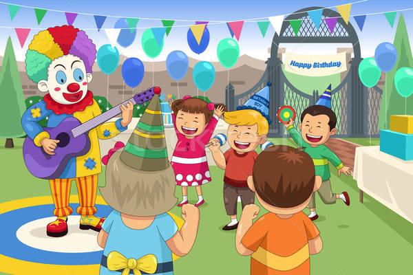 Palhaço crianças festa de aniversário festa crianças homem Foto stock © artisticco
