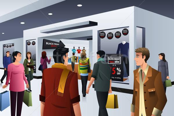 Pessoas compras black friday departamento armazenar homem Foto stock © artisticco