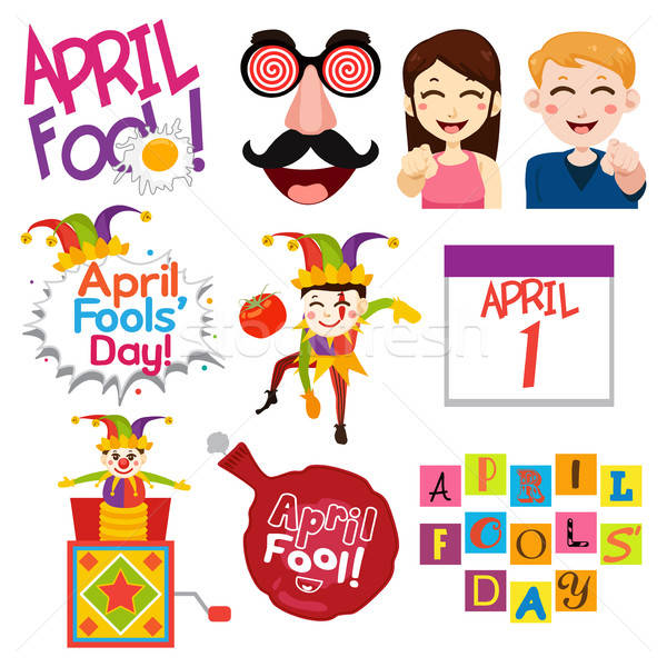 April Fools Day Illustrations Stock photo © artisticco