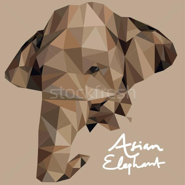 éléphant illustration mosaïque style animaux Photo stock © artisticco