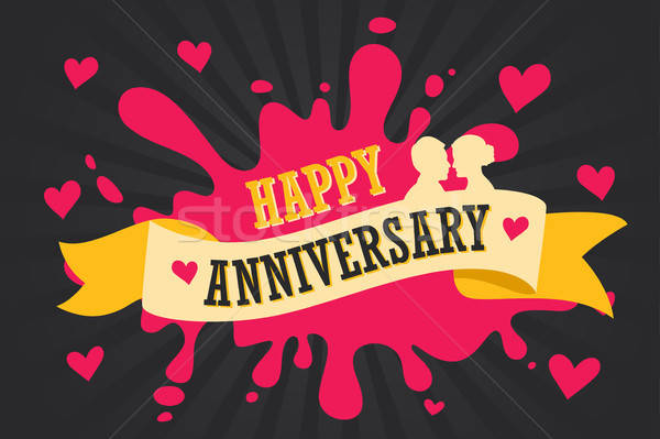 Happy Anniversary Template Poster Stock photo © artisticco
