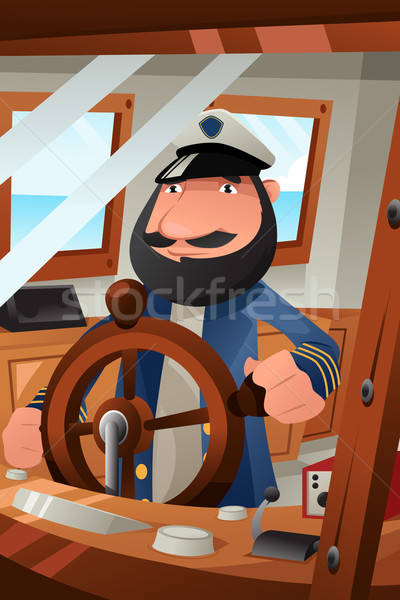 Csónak kötelesség férfi tenger hajó állás Stock fotó © artisticco