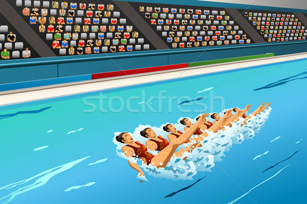 Synchronized swimming competition Stock photo © artisticco