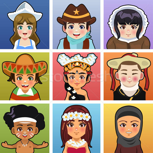 Children from different parts of the world Stock photo © artisticco