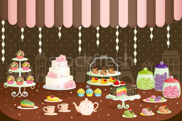 Cakes store display Stock photo © artisticco