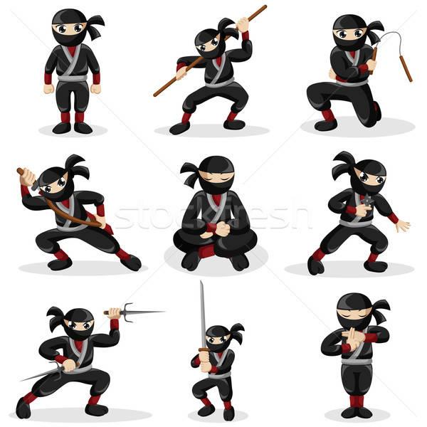 Ninja crianças diferente crianças esportes menino Foto stock © artisticco