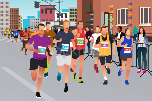 Runners Running in a Marathon Competition Stock photo © artisticco