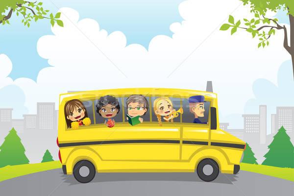 子供 スクールバス ライディング 子供 学校 教育 ストックフォト © artisticco