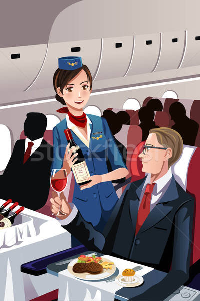 Flight attendant Stock photo © artisticco