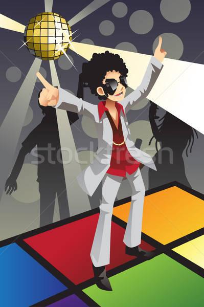 Disco homme danse piste de danse fête danse Photo stock © artisticco
