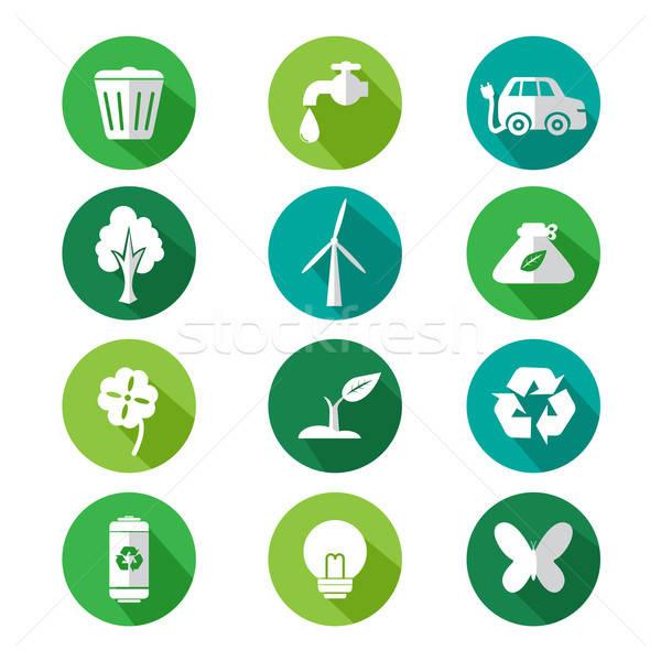 Go green icons Stock photo © artisticco
