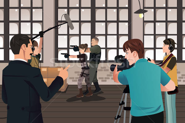 Movie production scene Stock photo © artisticco