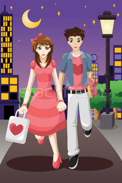 Couple going out on a Valentine's Day Stock photo © artisticco