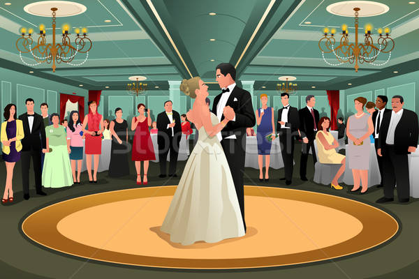 Bride Groom Dancing Their First Dance Stock photo © artisticco