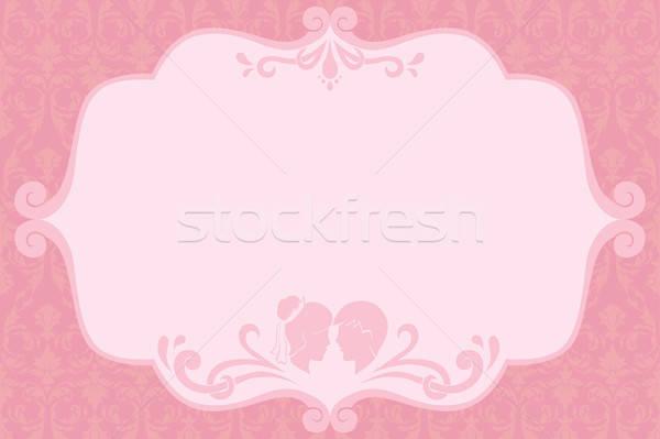 Hochzeitseinladung Design Liebe Rahmen Braut Karte Stock foto © artisticco