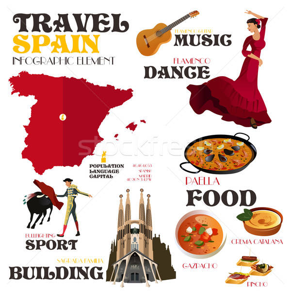 Infographic Elements for Traveling to Spain Stock photo © artisticco