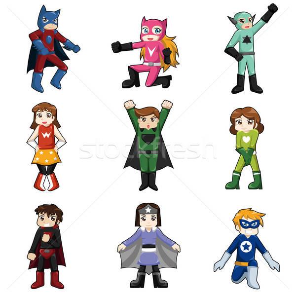 Kids Wearing Superheroes Costume Stock photo © artisticco