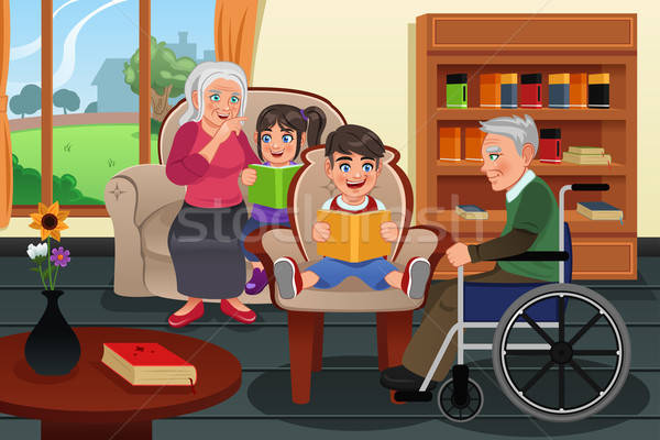 Kids Visiting a Retirement Home Stock photo © artisticco