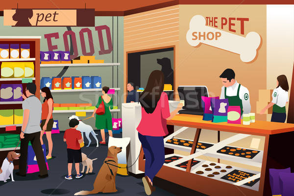 People Shopping For Their Pets at Pet Shop Stock photo © artisticco