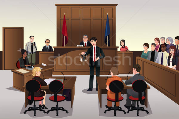 Court scene Stock photo © artisticco
