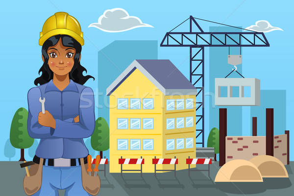 Contractor in Front of a House Stock photo © artisticco
