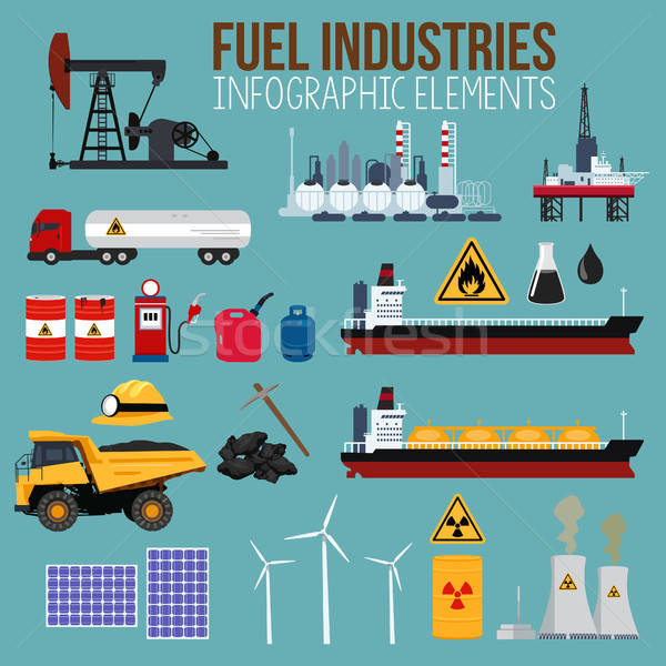 Oil and Fuel Industry Infographics Elements Stock photo © artisticco