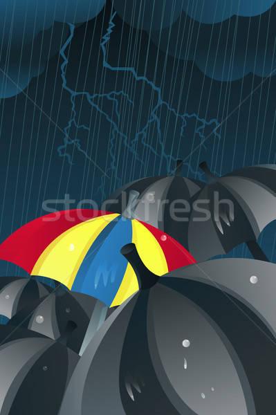 Unique umbrella Stock photo © artisticco