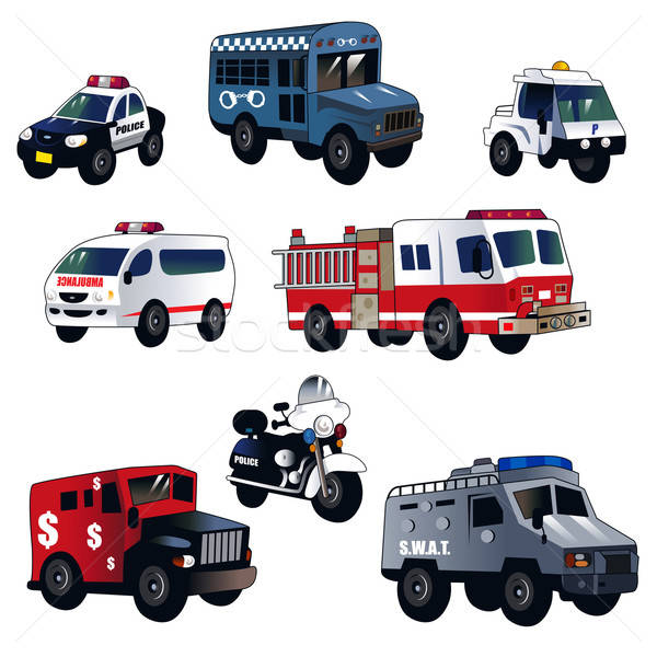 Cartoon law enforcement cars Stock photo © artisticco