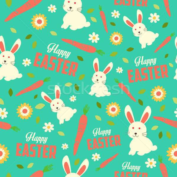 Easter Bunny and Spring Wallpaper Seamless Pattern Background Stock photo © artisticco
