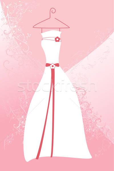 Esküvői ruha esküvő divat háttér házasság rózsaszín Stock fotó © artisticco