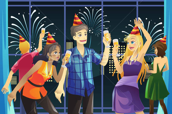 New Year celebration party Stock photo © artisticco