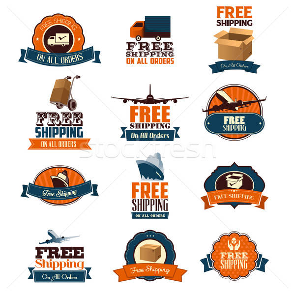 Free Shipping Icons Stock photo © artisticco