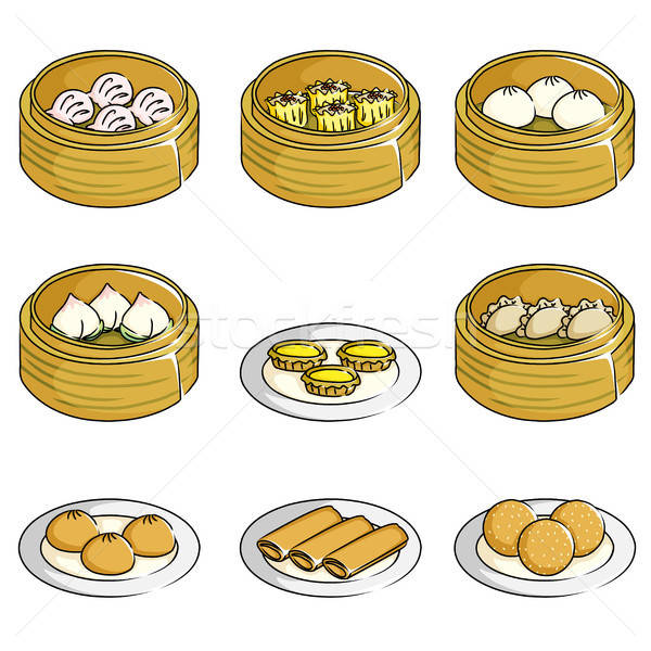 Chinese dim sum icons Stock photo © artisticco