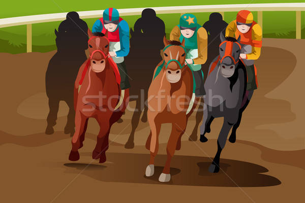 Horse racing Stock photo © artisticco