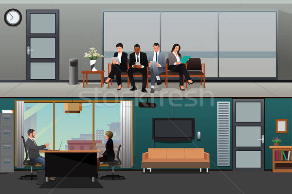 Baan wachten interview kantoor man zakenman Stockfoto © artisticco