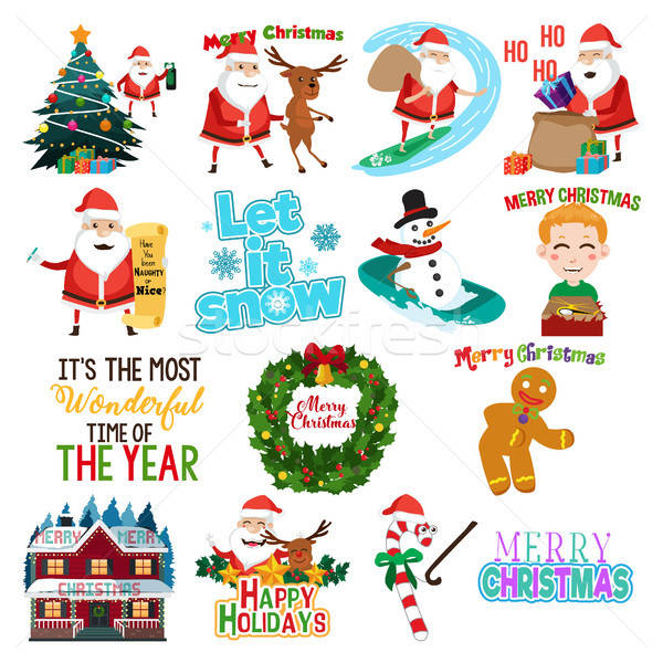 Christmas clip arts Illustration Stock photo © artisticco