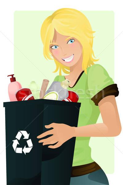 Recycling girl Stock photo © artisticco