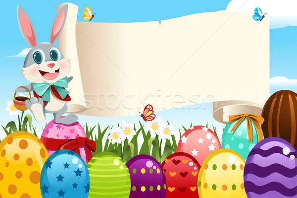 Pascua vacaciones vector signo huevos primavera Foto stock © artisticco