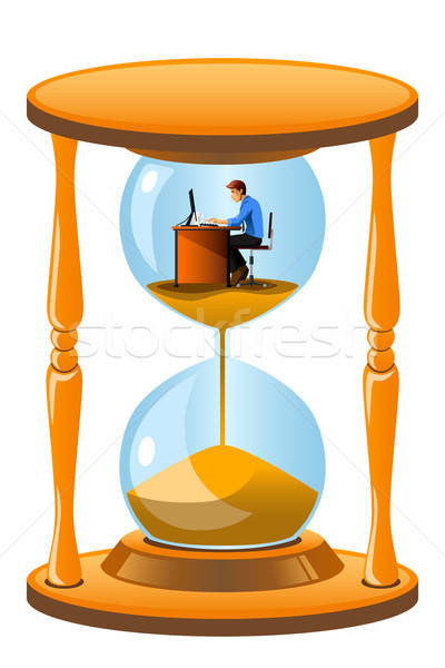 Office worker inside the hourglass Stock photo © artisticco