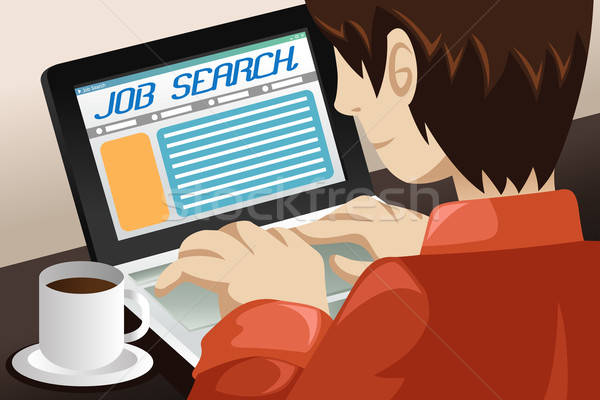 Man Searching for a Job Online Stock photo © artisticco