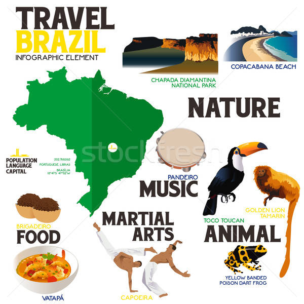 Infographic Elements for Traveling to Brazil Stock photo © artisticco