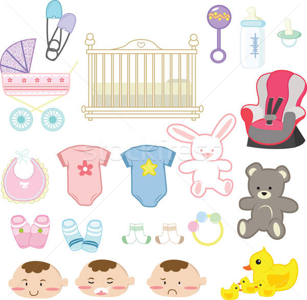 Baby items Stock photo © artisticco