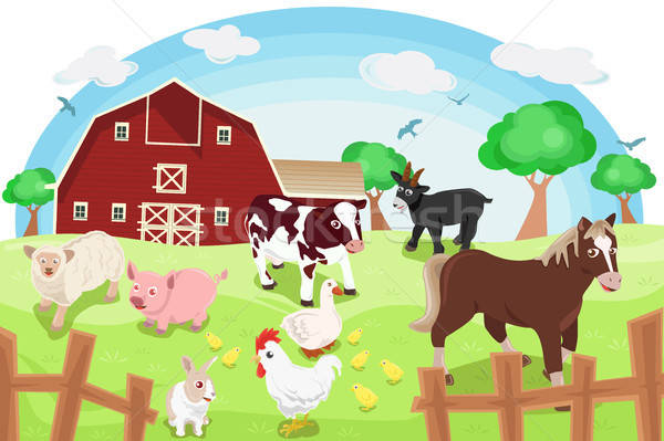 Farm animals Stock photo © artisticco
