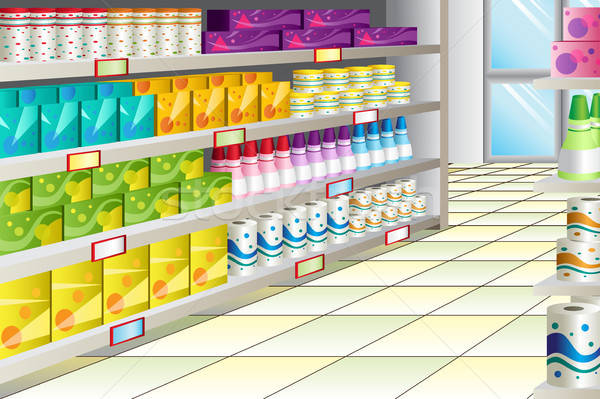 Grocery store aisle Stock photo © artisticco
