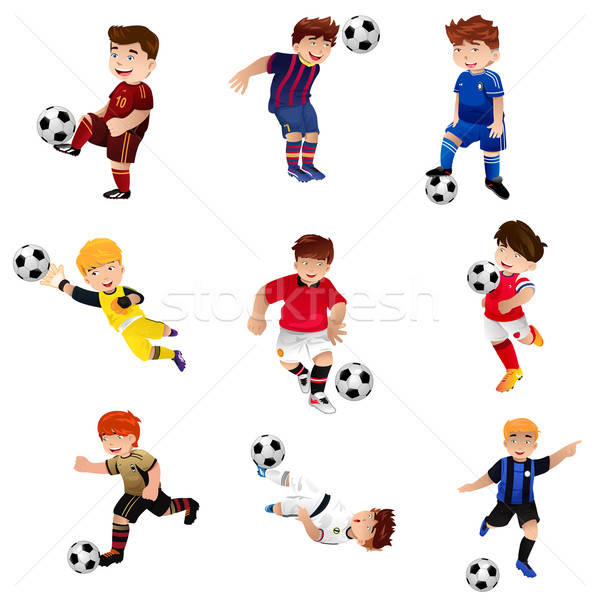 Stock photo: Boy playing soccer