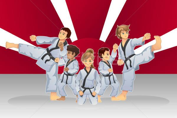 Martial Art Banner Stock photo © artisticco