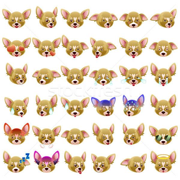 Perro emoticon dibujo Cartoon moderna vector Foto stock © artisticco